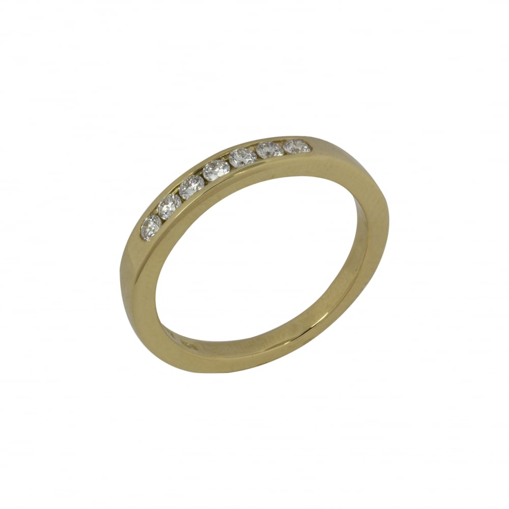 18ct yellow gold eternity ring