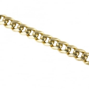 18ct Yellow Gold Heavy Curb Link Bracelet