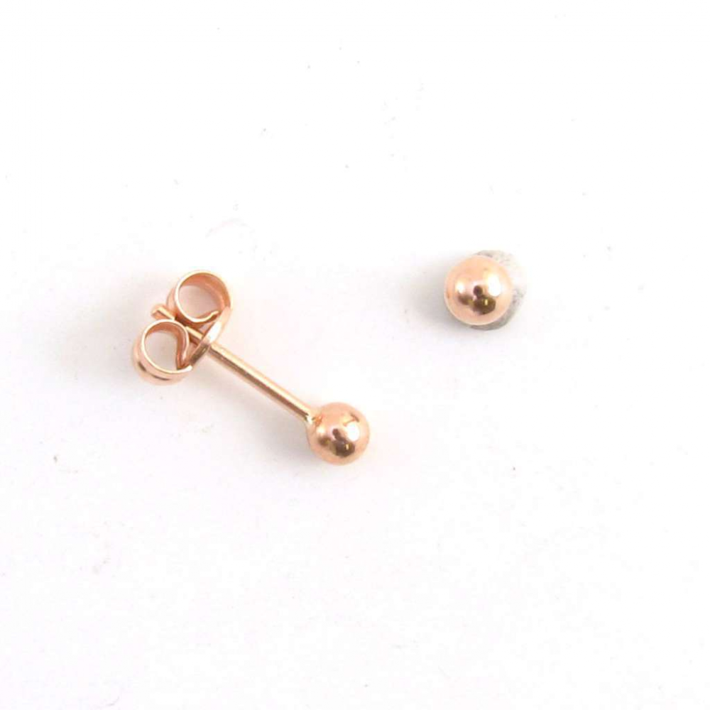 12bc63833 9ct Rose Gold 5mm Ball Stud Earrings