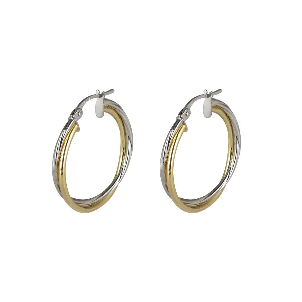 9ct Yellow Gold Entwined Drop Earrings