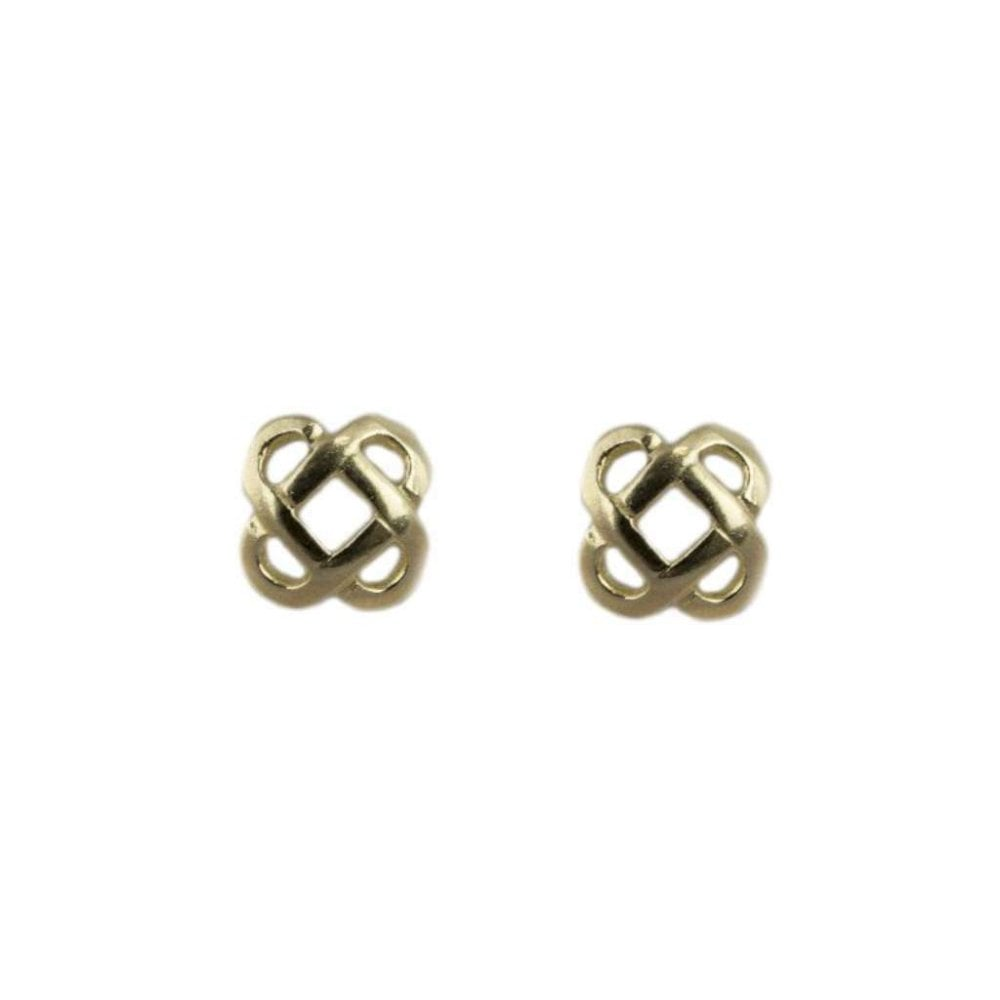 9ct Yellow Gold Celtic Stud Earrings New