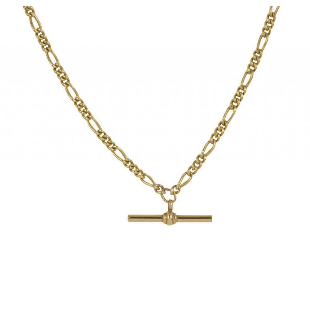 """033a30880 9ct Yellow Gold Double Albert Chain 18"""""""