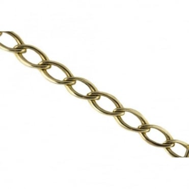 9ct Yellow Gold Large Open Oval Links Bracelet