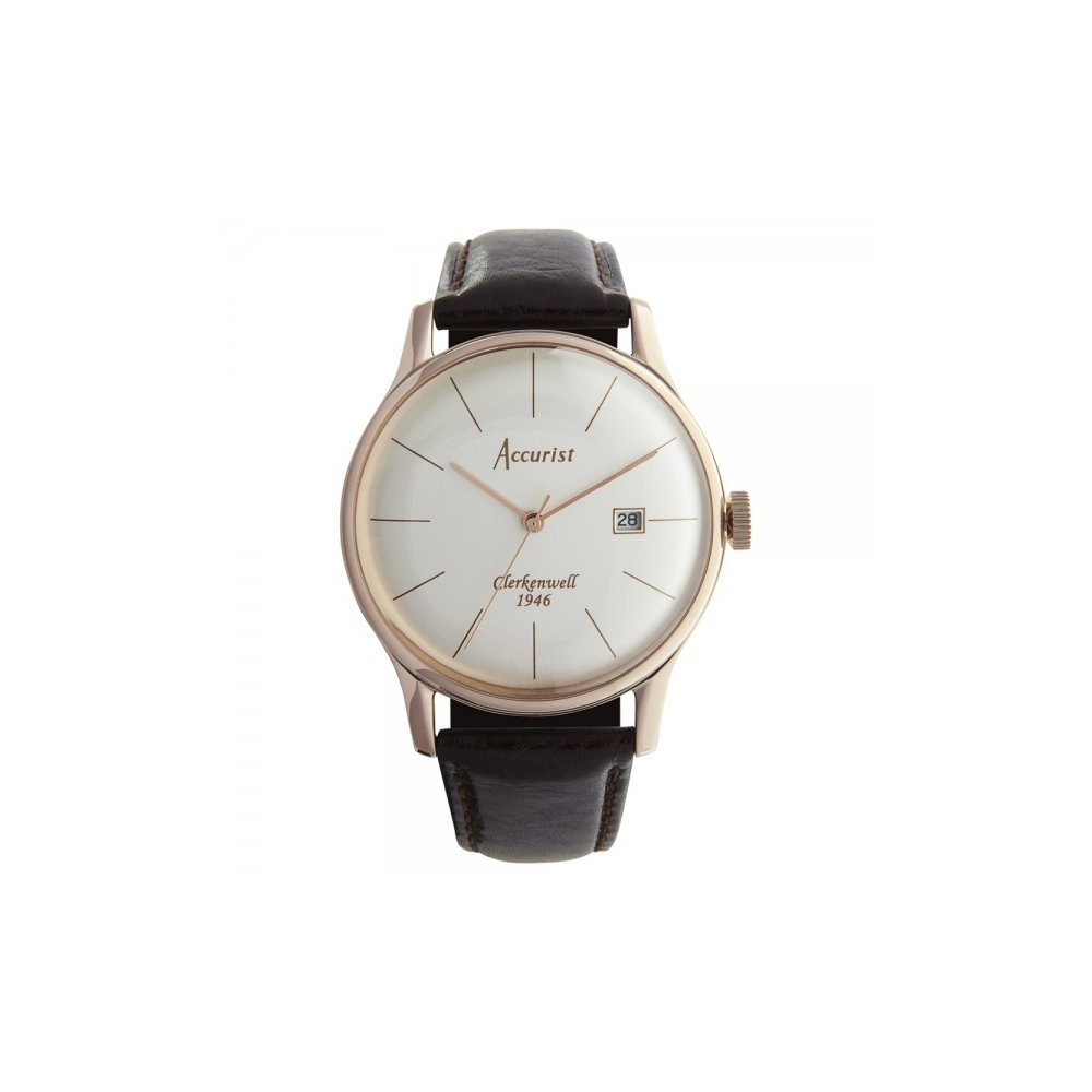 Accurist Rose Gold Plated Strap From Finnies The Jewellers