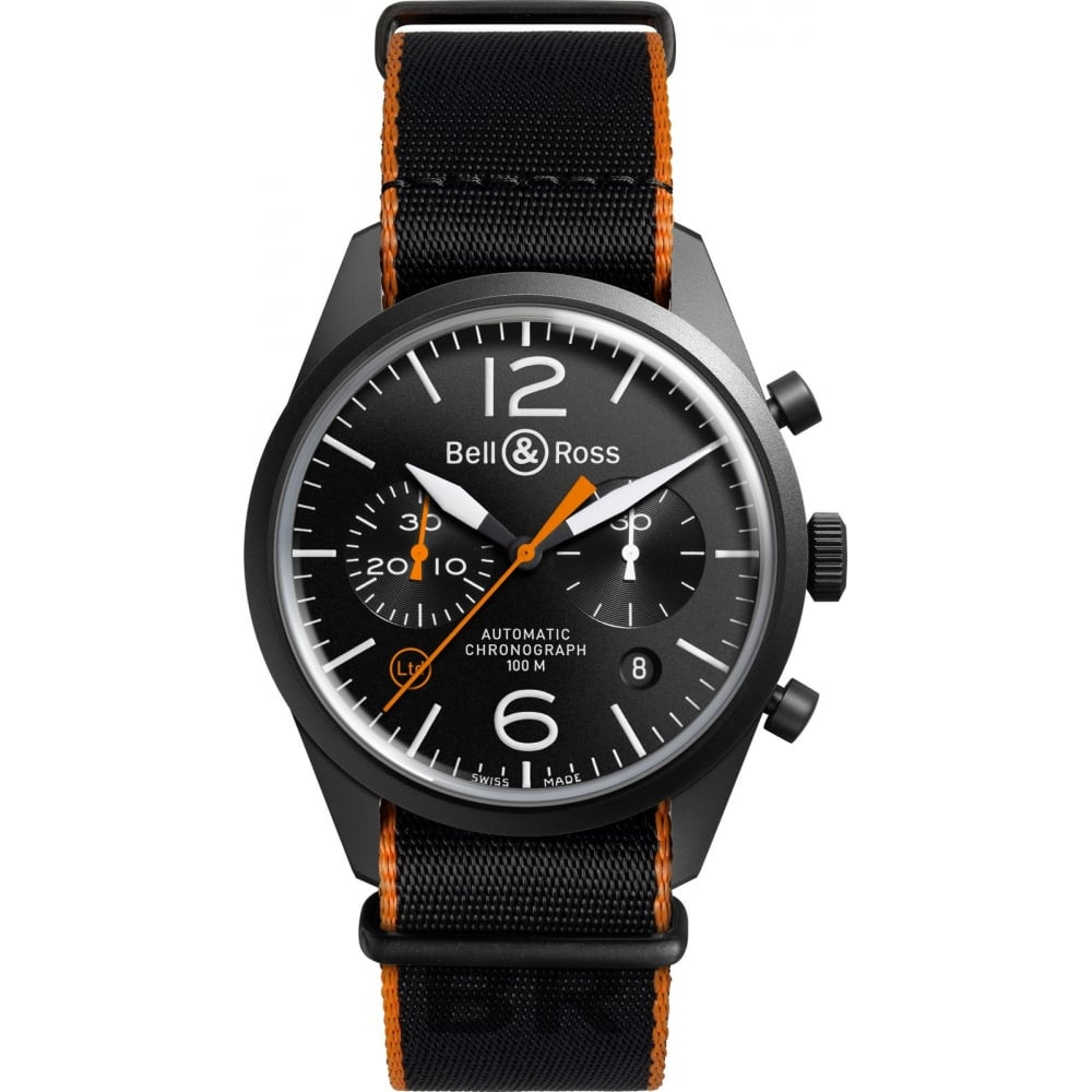 pretty nice b1f95 77d5e Bell & Ross Vintage BR126 'Carbon Orange' Limited Edition