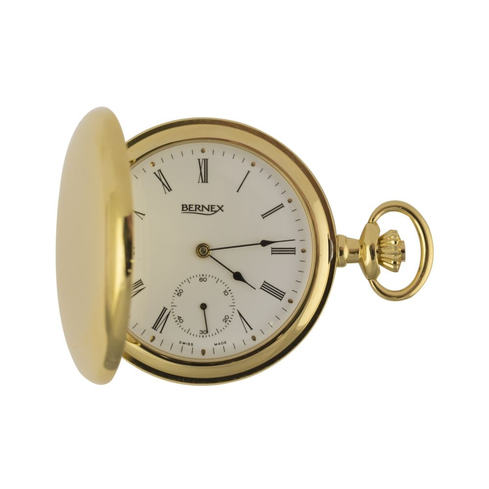 Bernex Gold Plated Full Hunter Pocket Watch Watches From