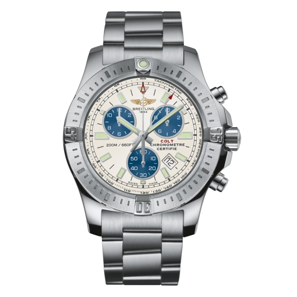 breitling colt chronograph quartz watches from finnies the jewellers uk. Black Bedroom Furniture Sets. Home Design Ideas