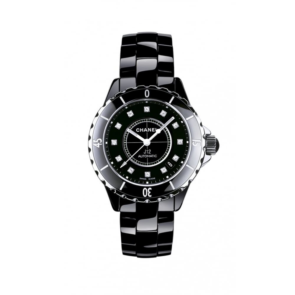 no from htm automatic swissluxury style ceramic chanel watches black