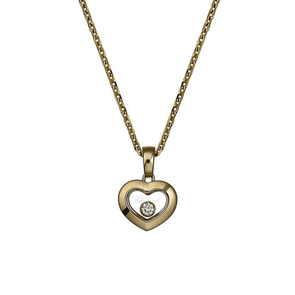 Chopard happy diamonds yellow gold pendant happy diamonds pendant aloadofball