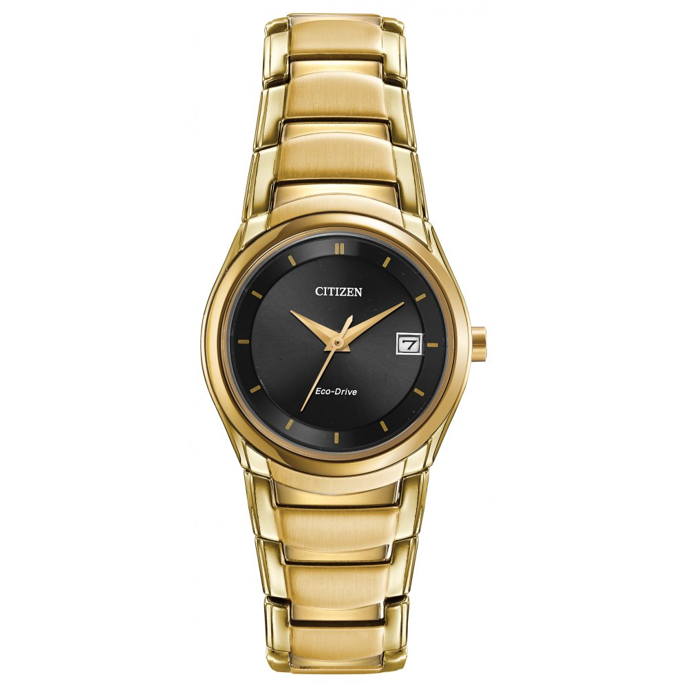 Citizen Gold Plated Eco Drive Watch