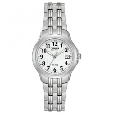 Ladies' stainless steel bracelet watch