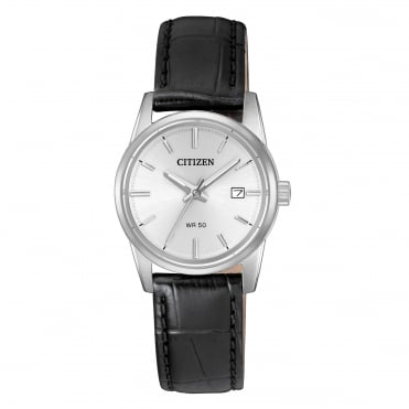 Ladies stainless steel strap watch