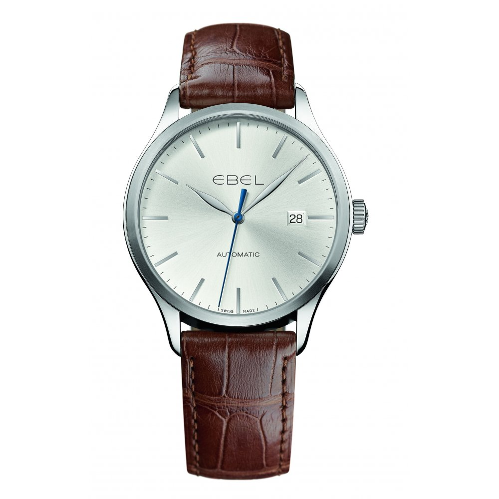 Ebel Classic Brown Leather Strap Watch From Finnies The