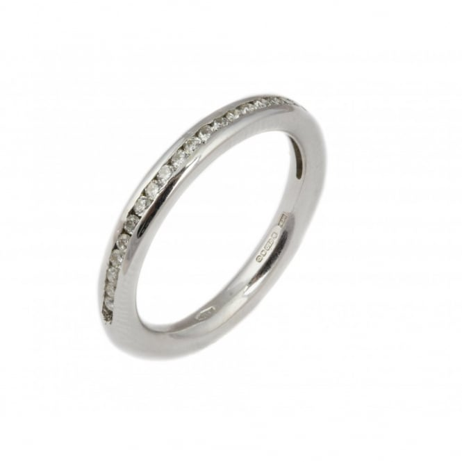 Finnies The Jewellers 18ct White Gold Diamond Eternity Ring 0.27ct