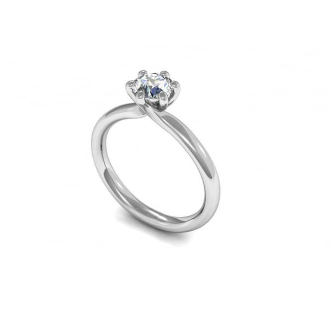Finnies The Jewellers 18ct White Gold Diamond Solitaire Ring 0.33ct