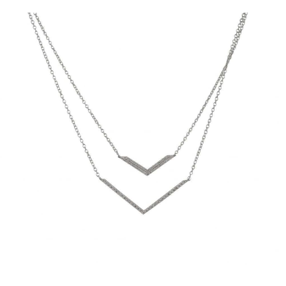 double necklace gold designs img necklaces collections contagious products silver cross