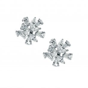 8cf0d0a6c Finnies The Jewellers 18ct White Gold Fancy Cut Diamond Cluster Studs