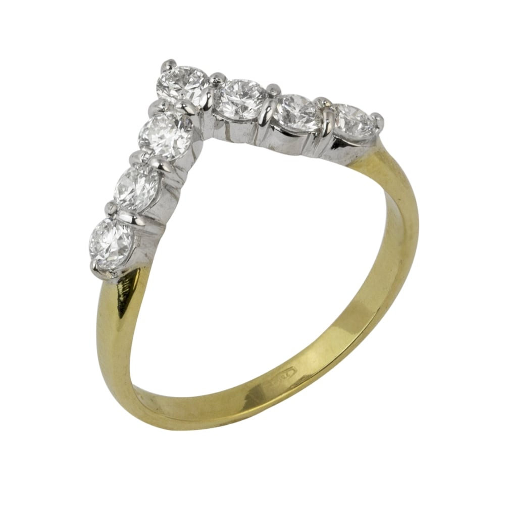Wishbone Eternity Ring Ct Yellow Gold