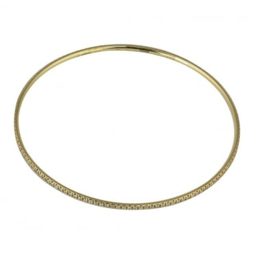 18ct Yellow Gold Full Diamond Set Bangle