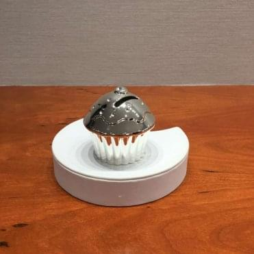 Silver Plated Cup Cake Money Box