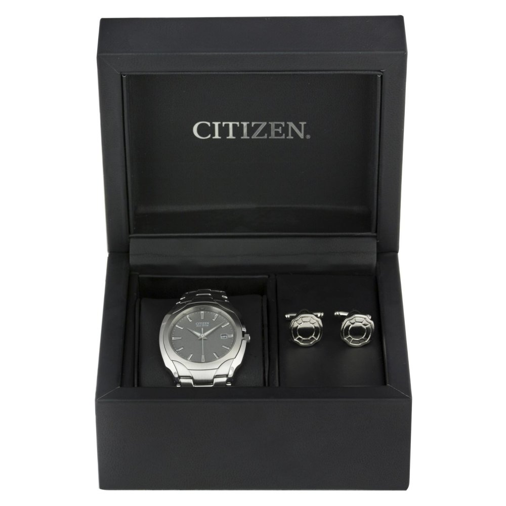 324b5dfa58fe5 Citizen Gents Citizen Ecodrive Watch and Cufflink Set - Watches from ...