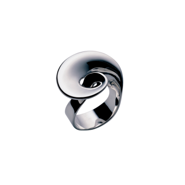 Sterling Silver Mobius Ring - Size 54