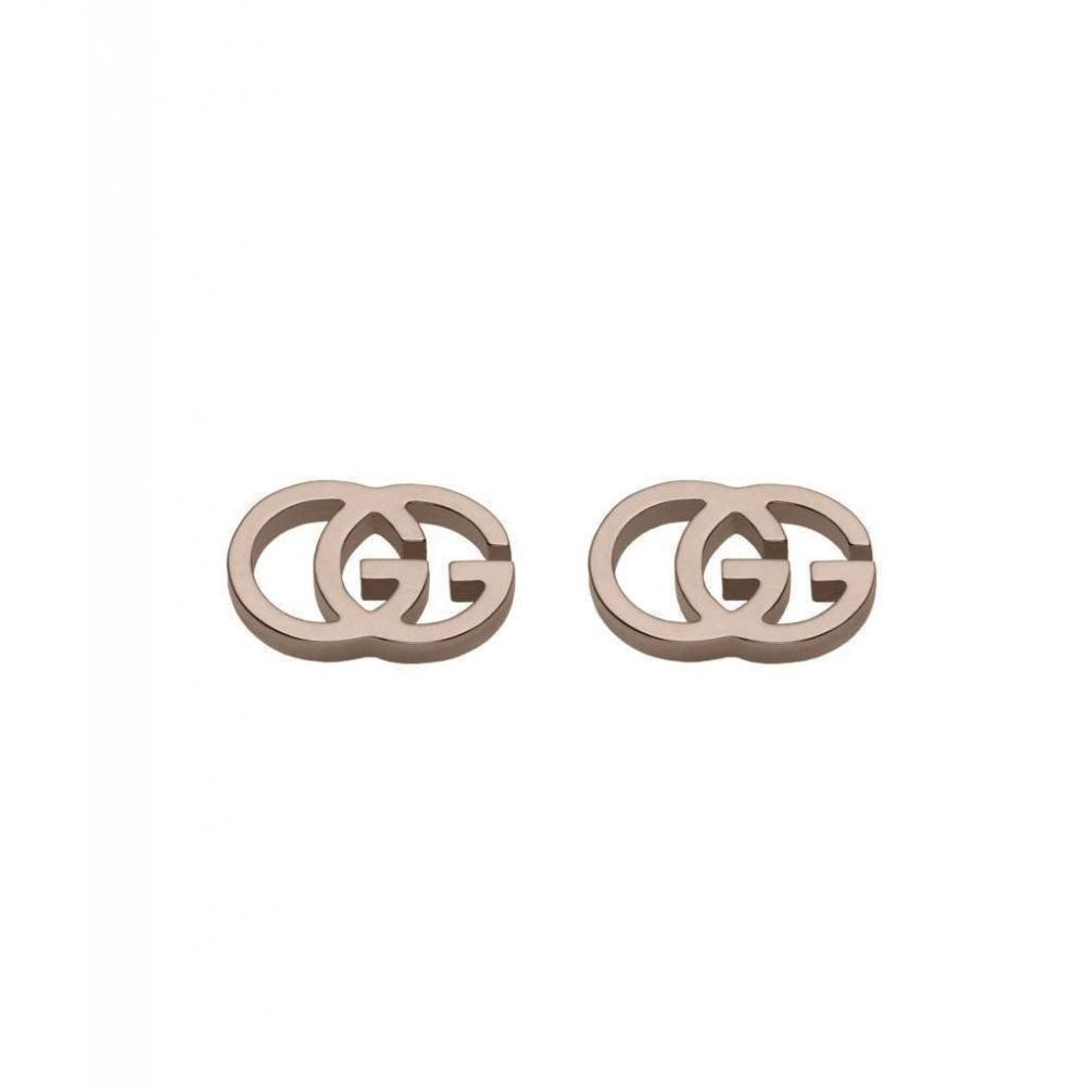 f7f69cc87 Gucci 18ct Rose Gold GG Tissue Stud Earrings