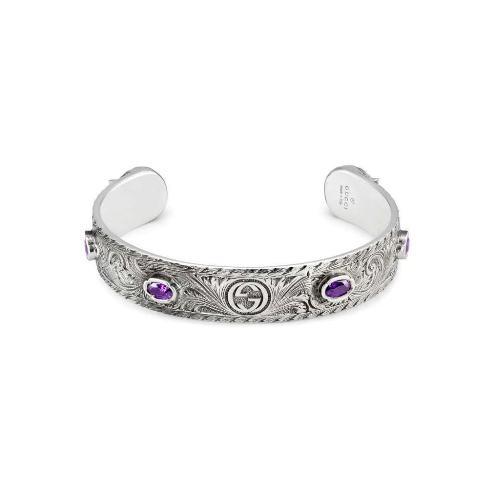 5222c2d3b Gucci Garden Sterling Silver With Black Aureco finish With Purp