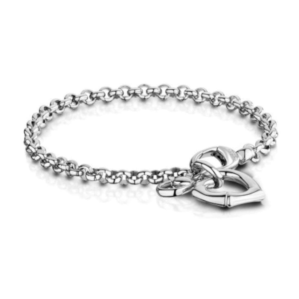 7275a0b7908 Gucci Silver Bamboo Heart Bracelet