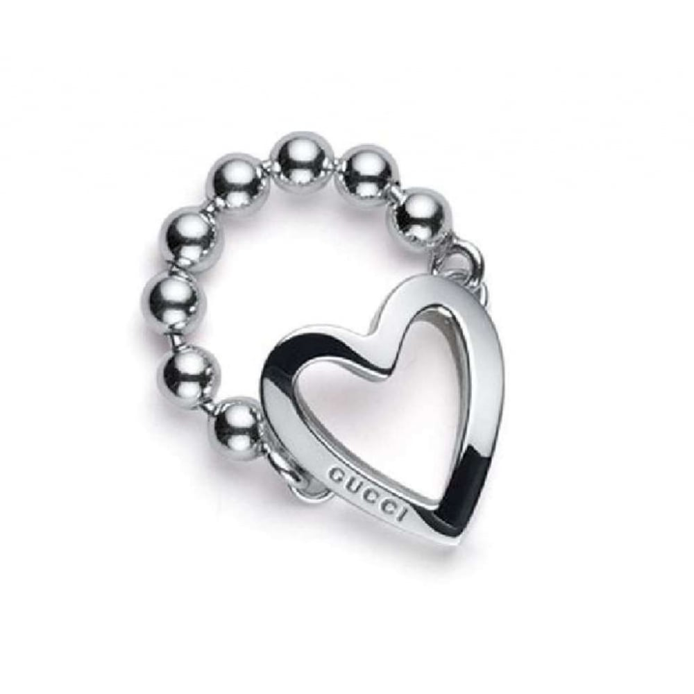 7b6dc280c Gucci Silver Heart Toggle Ring - Jewellery from Finnies the Jewellers UK