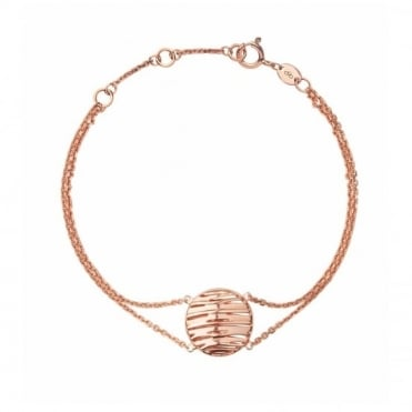 Links Of London Silver and Rose Gold Vermeil Thames Bracelet