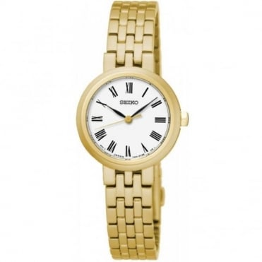 Gold plated bracelet watch