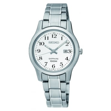 Ladies stainless steel bracelet watch