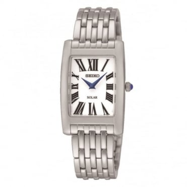 Solar stainless steel bracelet watch