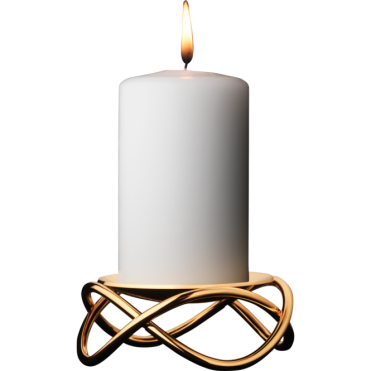 Stainless Steel and Gold Plated Candleholder