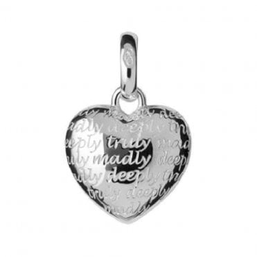 Sterling Silver Truly Madly Deeply Charm