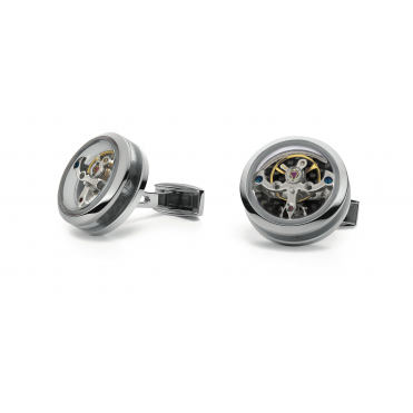 Tourbillon Open Side Cufflinks